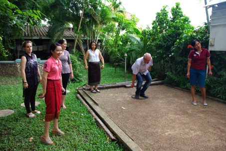Playing Boule with DVV staff