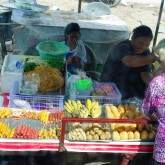 fried meat everywhere - a tough life for a Vegetarian