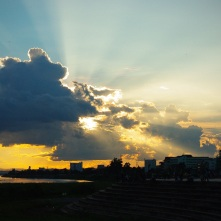 Sunset over the Capital