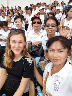 Watching some soccer on teacher's day