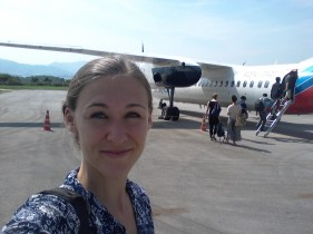 Flying back to Vientiane - luckily I have one more trip lined up before my return to Germany!