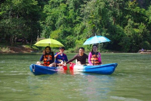 kayaking yes - tanning NO