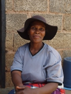 One of the women who bought a solar lamp