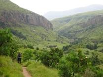 Hiking around Cathedral Peak in the Northern Drakensberg Mountains