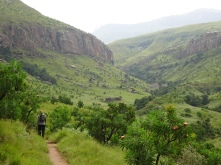 Hiking around Cathedral Peak in the Northern Drakensberg Mountains