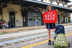 At an Italian train station