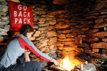 There's nothing better than a crackling fire when you are soaked and tired