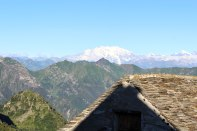 Stunning view all the way to Monte Rosa