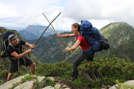 Even the happiest couples argue sometimes: mountain-style!