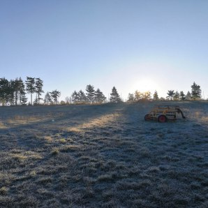 Every morning, we wake up to a frozen landscape. But it's so beautiful!
