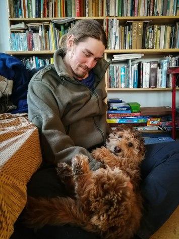 Cuddling Pippin