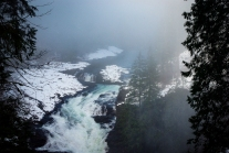 The Elk Falls near Campbell River