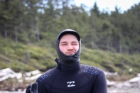Full-body wetsuit - check!