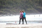 Our friend Dani and her surf instructor