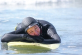 Red eyes, snotty nose, exhausted face - yes, that's also what a surfergirl looks like...