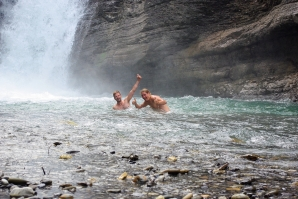 It would have been rude NOT to go skinnydipping!